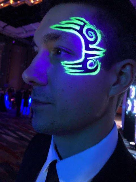 Glow In The Dark Tattoos Airbrush Tattoos Clowning Around